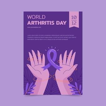 Hand gezeichnete vertikale plakatschablone des weltarthritis-tages