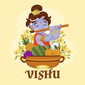 Hand gezeichnete vishu illustration