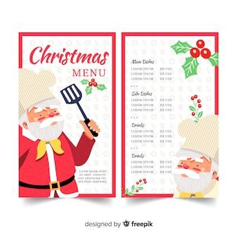 Hand gezeichnete vorlage weihnachtsmenü