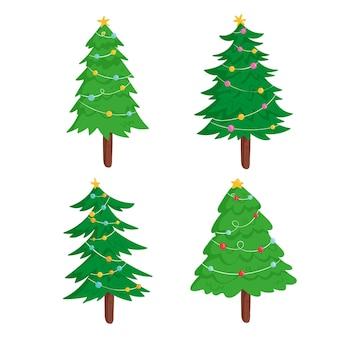 Hand gezeichnete weihnachtsbaumschmuck