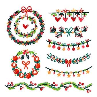 Hand gezeichnete weihnachtsdekoration