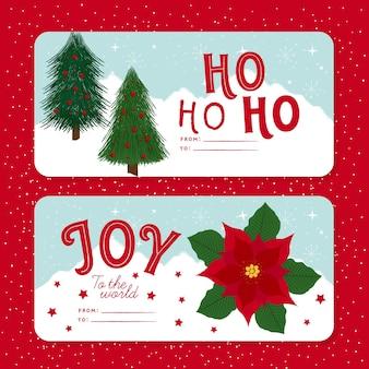 Hand gezeichnete weihnachtskarten