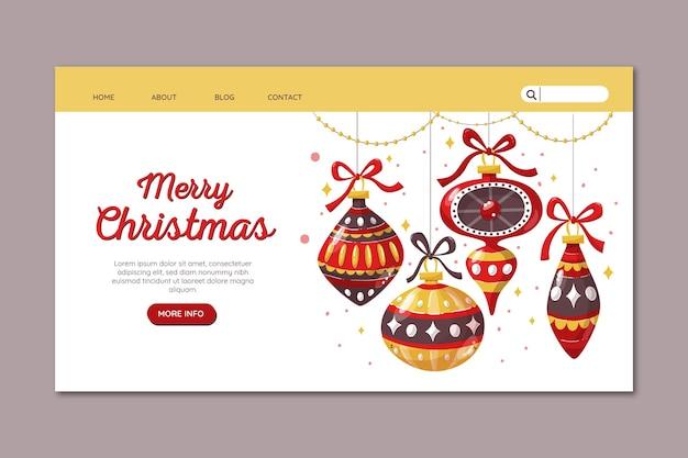 Hand gezeichnete weihnachtslandeseite