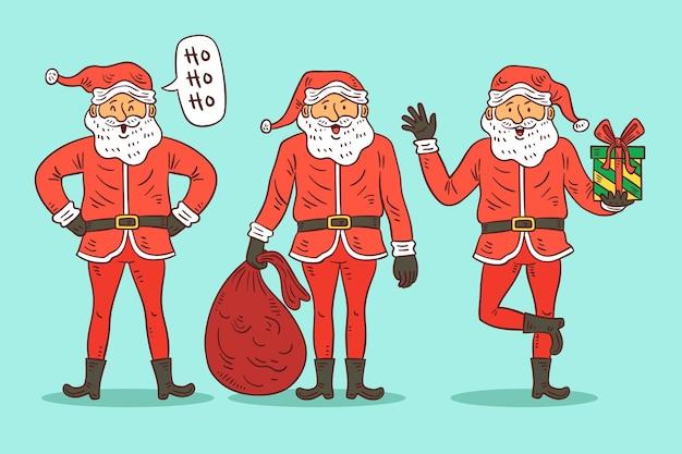 Hand gezeichnete weihnachtsmannzeichen