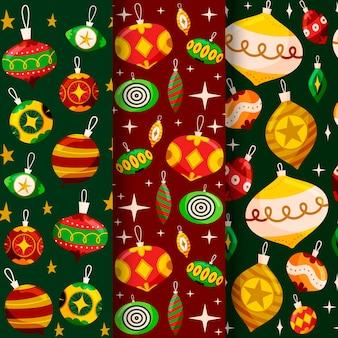 Hand gezeichnete weihnachtsmustersammlung