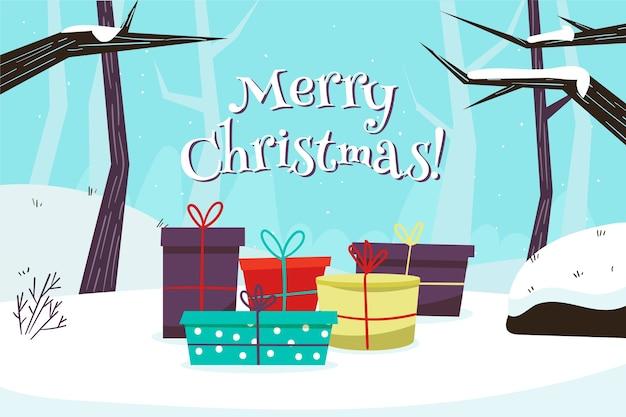 Hand gezeichnete weihnachtstapete