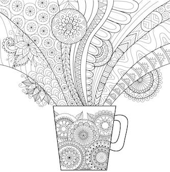 Hand gezeichneten cup hintergrund