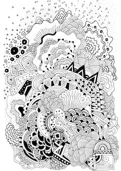 Hand gezeichneten hintergrund design
