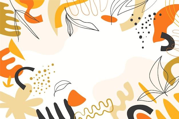 Hand gezeichneter abstrakter formenhintergrund