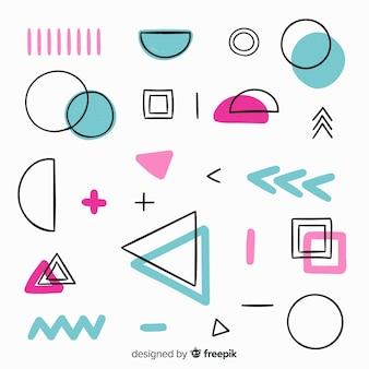 Hand gezeichneter abstrakter geometrischer hintergrund
