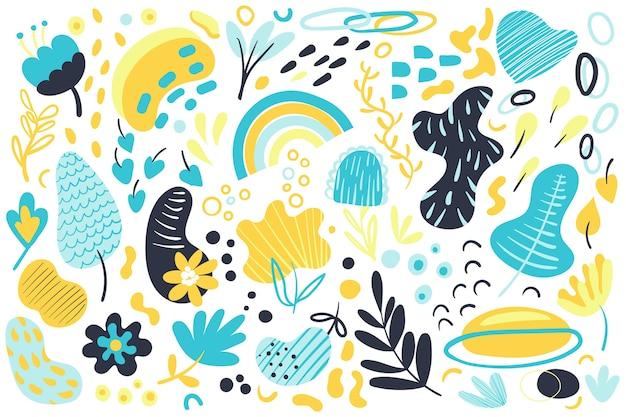 Hand gezeichneter abstrakter hintergrund