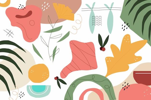 Hand gezeichneter abstrakter organischer formhintergrund