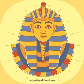Hand gezeichneter alter ägypten-pharao