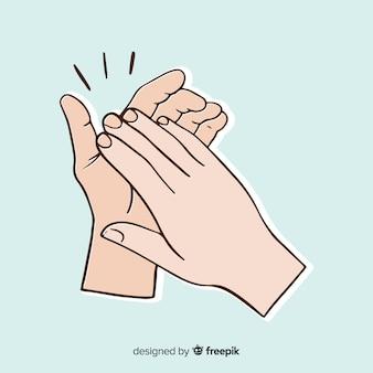 Hand gezeichneter applaushintergrund