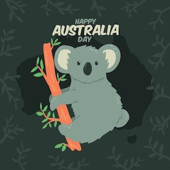 Hand gezeichneter australien-tag