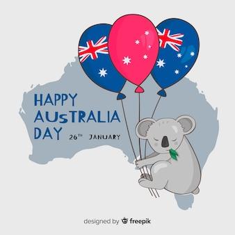 Hand gezeichneter australien-tageshintergrund