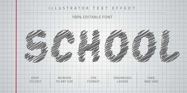 Hand gezeichneter bearbeitbarer texteffekt, schriftstil