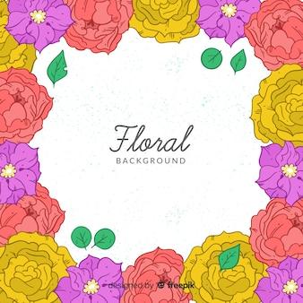 Hand gezeichneter Blumenhintergrund