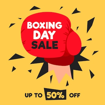Hand gezeichneter boxing day sale