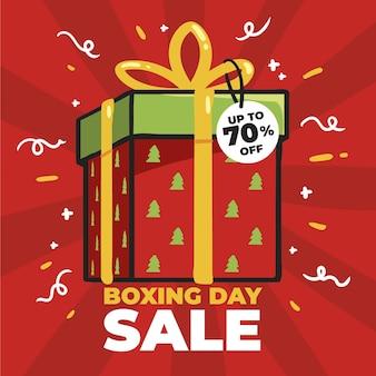 Hand gezeichneter boxing day sale
