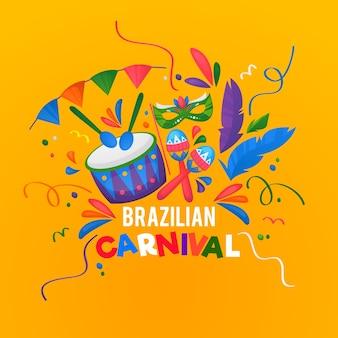 Hand gezeichneter brasilianischer karneval