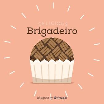 Hand gezeichneter brigadeiro-hintergrund