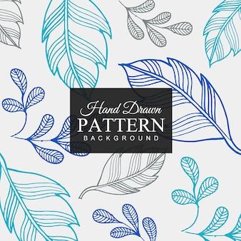 Hand gezeichneter bunter Blatt-Muster-Hintergrund