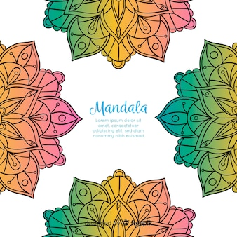 Hand gezeichneter dekorativer mandalahintergrund