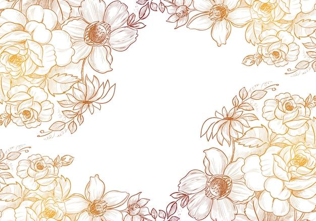 Hand gezeichneter dekorativer skizzenblumenhintergrund