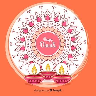 Hand gezeichneter diwali hintergrund