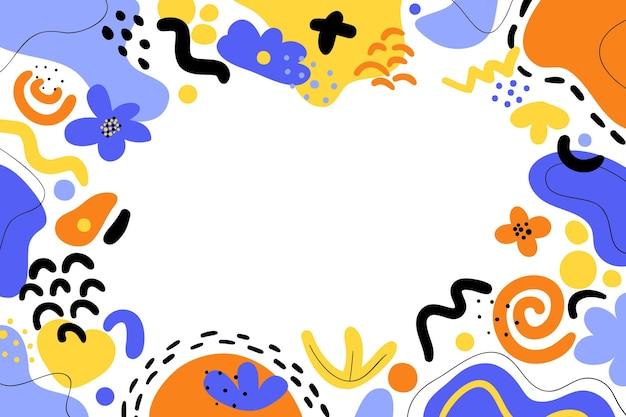 Hand gezeichneter flacher abstrakter formenhintergrund