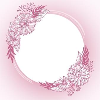 Hand gezeichneter frühlingsblumenrahmen