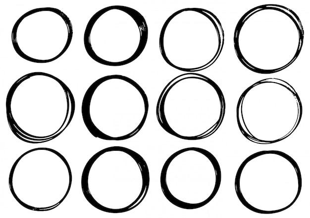 Hand gezeichneter gekritzelkreis