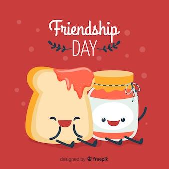 Hand gezeichneter glücklicher freundschaftstag