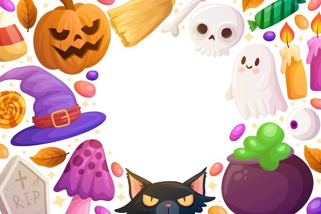 Hand gezeichneter halloween-hintergrund