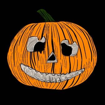 Hand gezeichneter halloween-kürbis