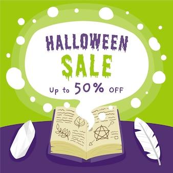 Hand gezeichneter halloween-verkauf
