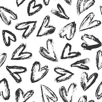 Hand gezeichneter herzhintergrund