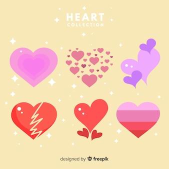 Hand gezeichneter Herzsatz