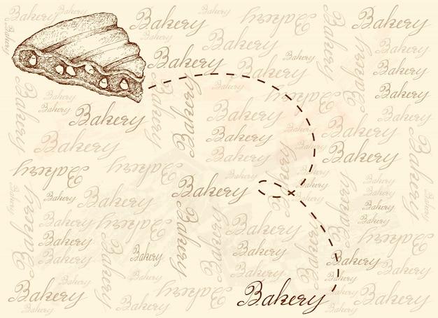 Hand gezeichneter hintergrund des gegrillten rajma-mais-sandwichs