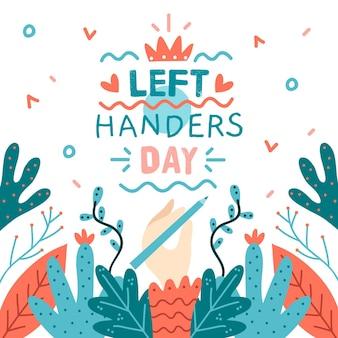 Hand gezeichneter hintergrund linkshänder tag