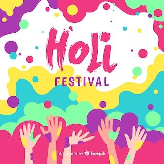 Hand gezeichneter holi festivalhintergrund