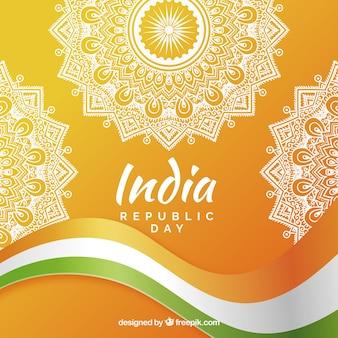Hand gezeichneter indien-republik-tageshintergrund