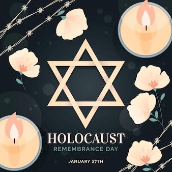 Hand gezeichneter internationaler holocaust-gedenktag