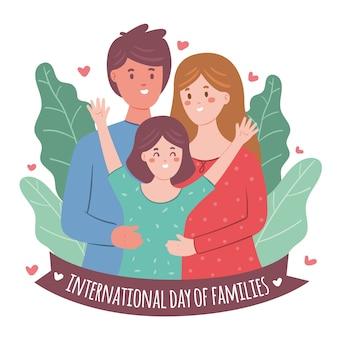 Hand gezeichneter internationaler tag der familien
