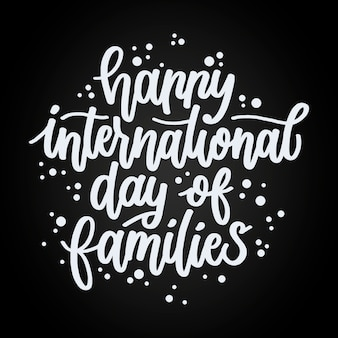 Hand gezeichneter internationaler tag der familien