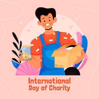 Hand gezeichneter internationaler tag des charity-hintergrunds