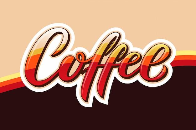 Hand gezeichneter kaffeetext