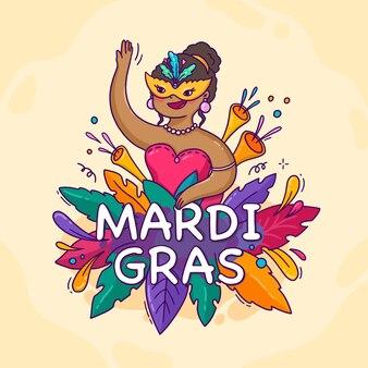 Hand gezeichneter karneval karneval