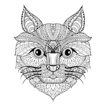 Hand gezeichneter katzenhintergrund
